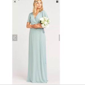 Show Me Your Mumu Noelle Sleeve Wrap Dress